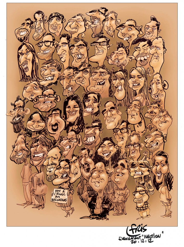 Illustrations caricature pour impression Poster groupe