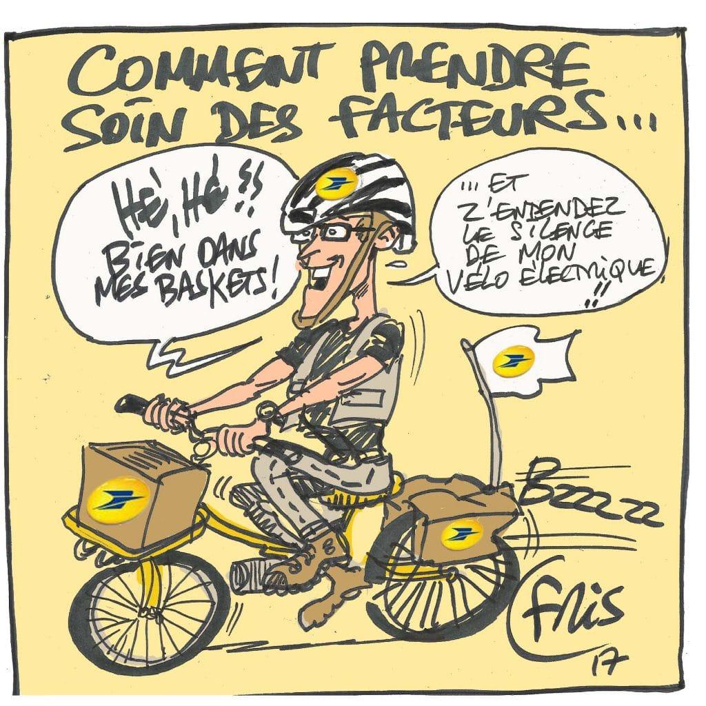 caricature pendant conférence la poste