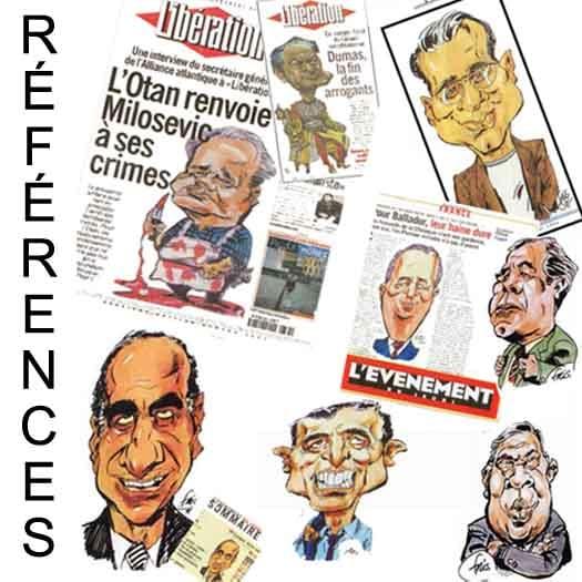 caricatures de Fris publiées dans la presse