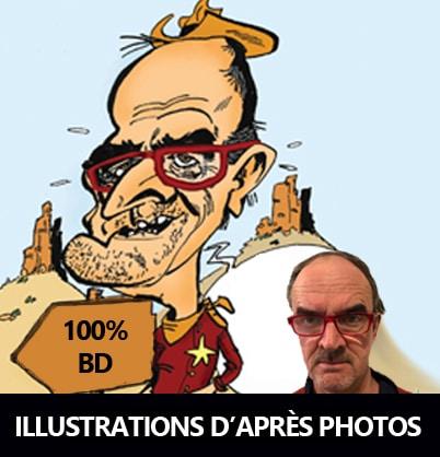 caricature couleur d'après photo