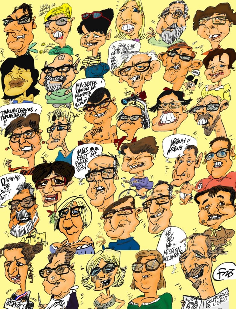 Poster caricatures couleurs Fris