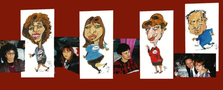 Photos et caricatures de Fris, traitement couleurs à l'ancienne.